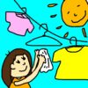 【画像あり】床に置いて放置してしまう洗濯物たち。洋服の居場所がたくさんありました。