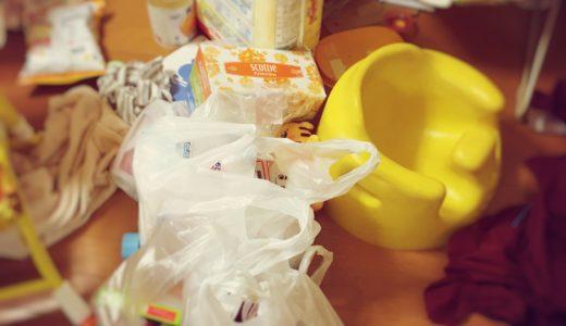 【汚部屋】買い物から帰ってきて袋から出さず、そのまま放置した結果。